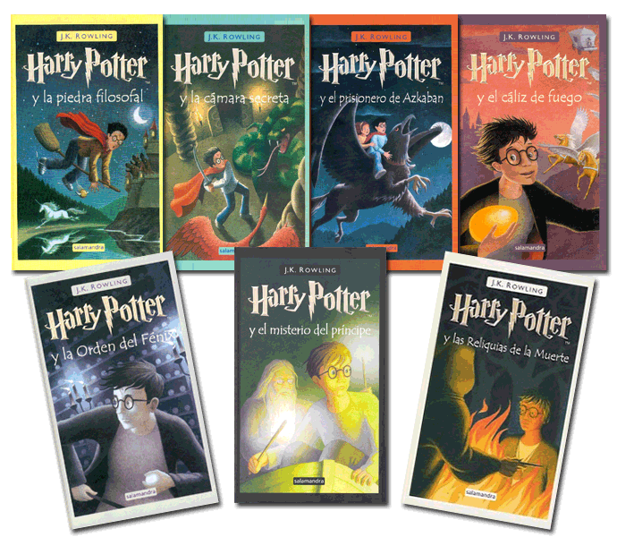 Resultado de imagen de libros de harry potter