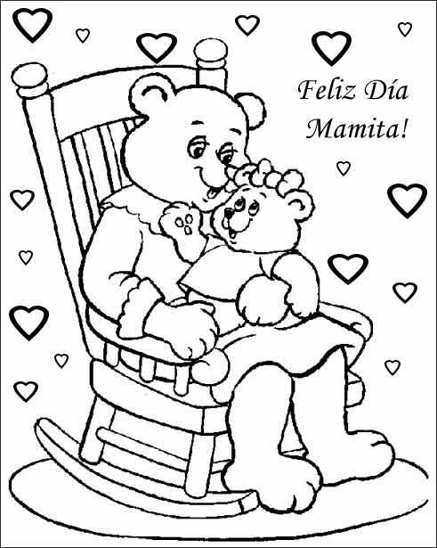 Colorear tarjetas dia de la madre para imprimir - Imagui