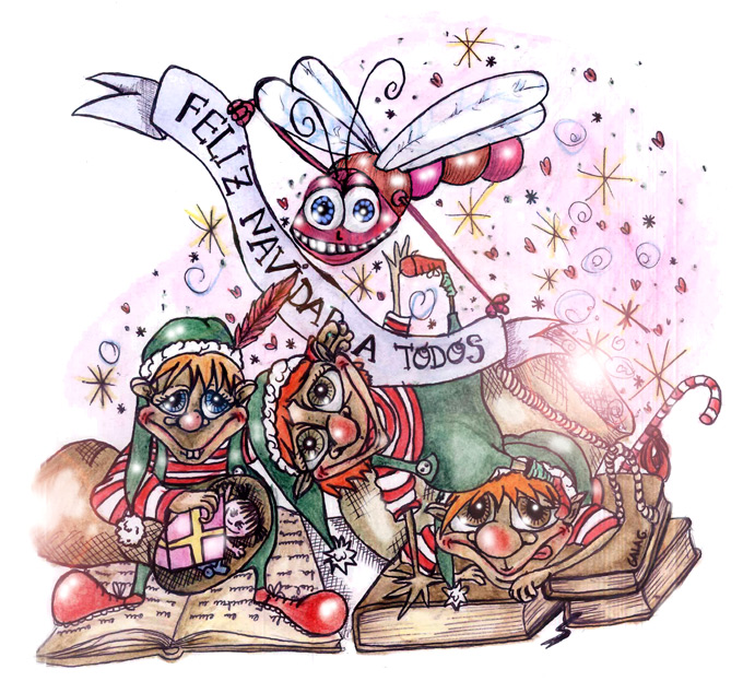 Duendes navidad regalos