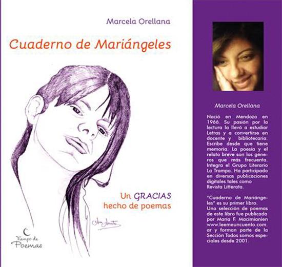 Tapa del Libro Cuaderno de Mariángeles de Marcela Orellana